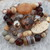The Coppers Natural Stone Stack Bracelets Big & Chunky by KnottedUp