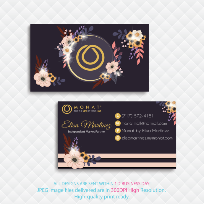 Monat Business Cards, Custom Monat Business Cards, Personalized Monat Business