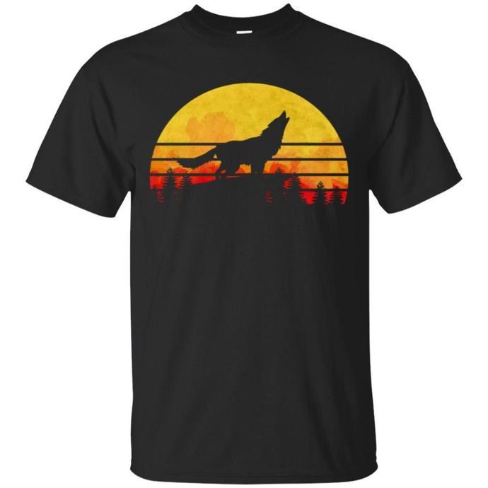 Vintage Wolf, Wolf Wild Retro Men T-shirt, Retro Wolf T-shirt, Vintage Wolf Wild