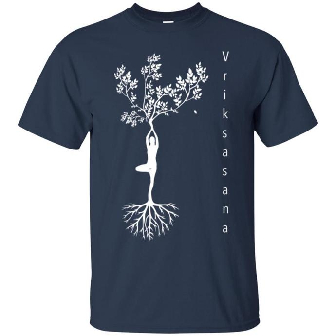 Tree pose, Yoga Tree Men T-shirt, Tree pose Tshirt, Yoga Tree Tee, Yoga Men