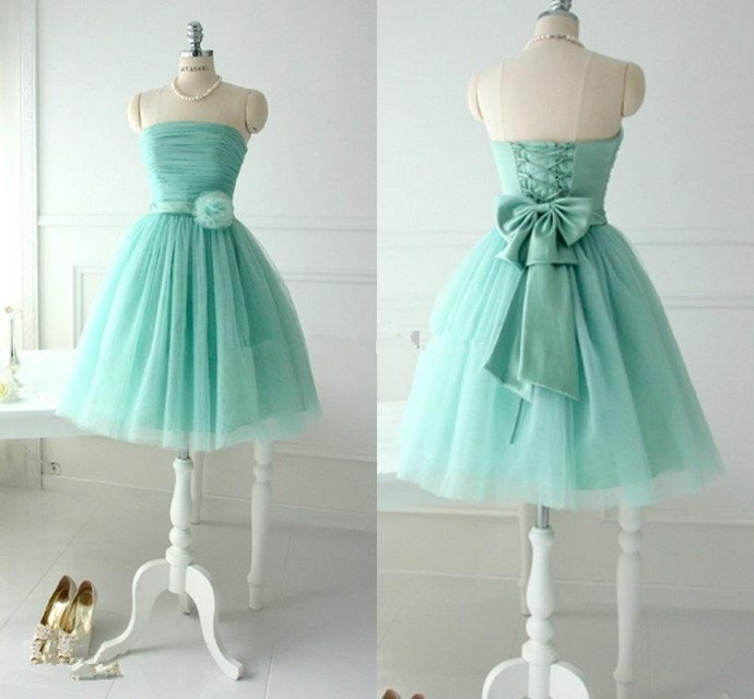 Short Strapless Party Dress,Ball Gown,Homecoming Gowns BD2162