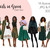 Watercolour fashion illustration clipart - Girls in Green - Dark Skin