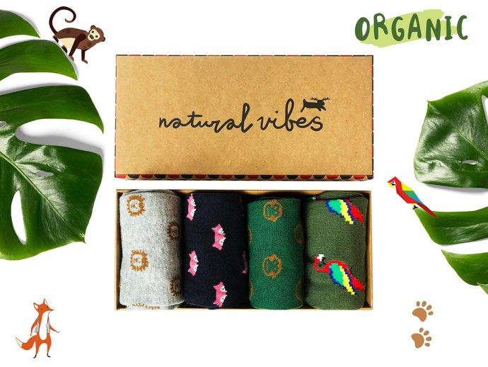 Funny socks |  Bio Bunte socken | Organic GOTS Cotton Socks |Animals Socks |