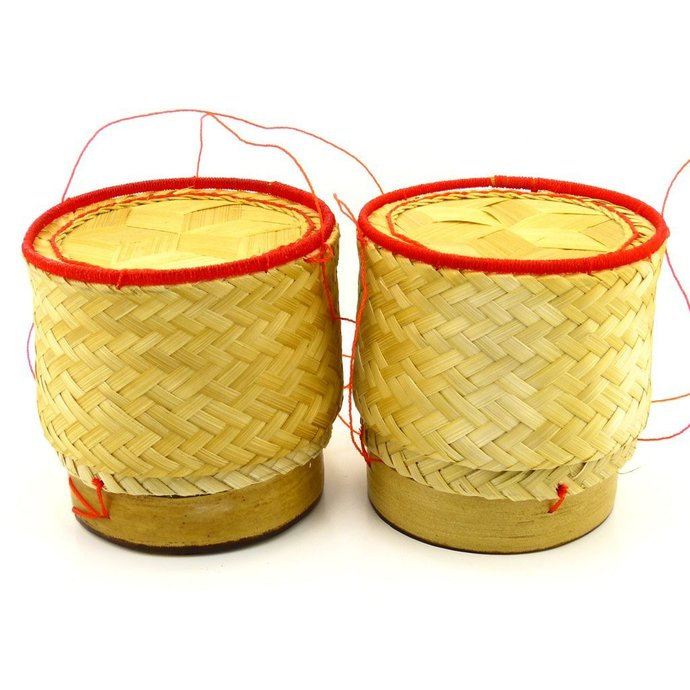 Thai Sticky Rice Serving Basket Single Serving Size (Pack of 2)
