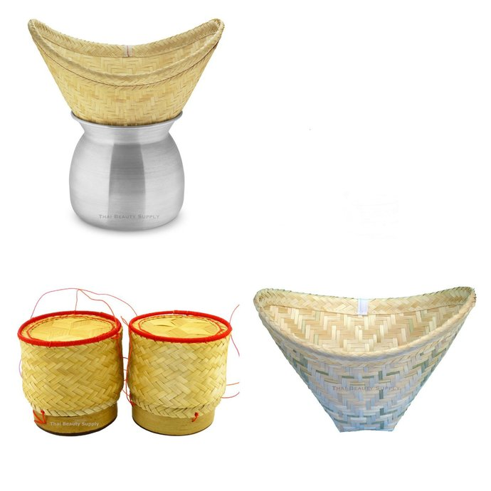 Aluminum Sticky Rice Steamer Set with Serving Baskets