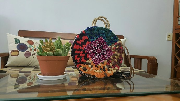 Women bag, beach bag, travel bag, straw bag, handmade woven straw bag, handwoven