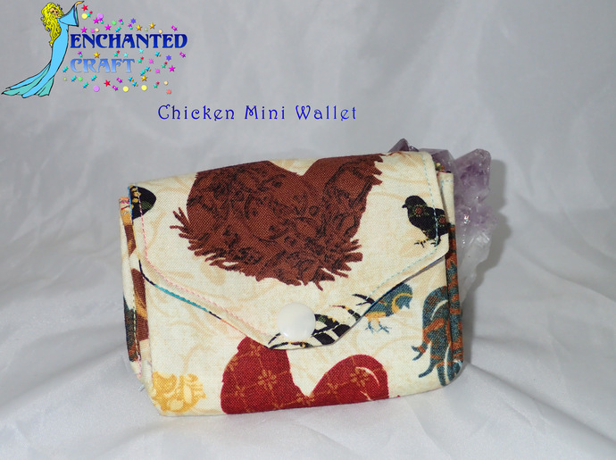 Mini wallets- Handmade fun! Choose your favorite dogs, roses, bulldogs,