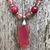 Pink Geode Necklace