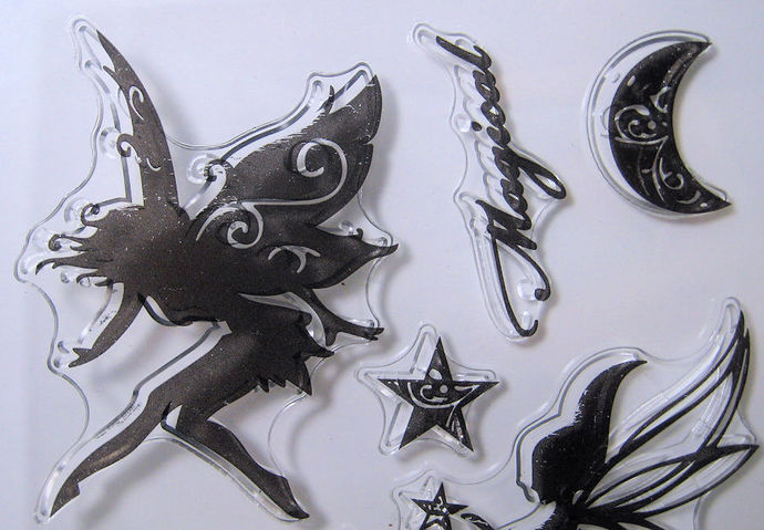 Magical Fairies Clear Stamp Set, Moon, Stars, Fairy