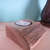 Handmade small solid natural wood tealight candle holder version one