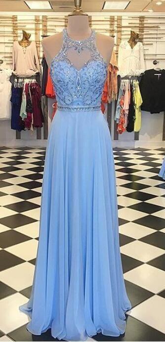 Sky Blue Dresses for Prom