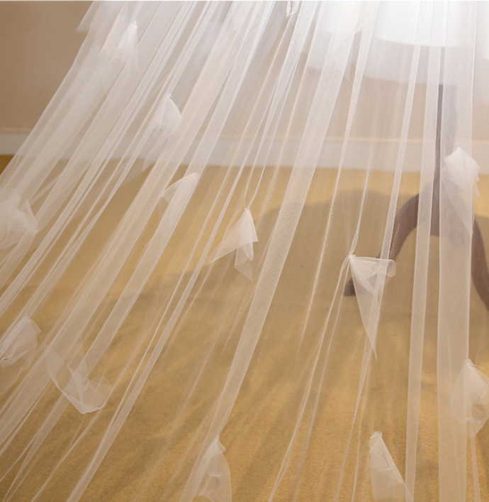 Tulle wedding veil, cathedral wedding veil,cathedral veil BD2168
