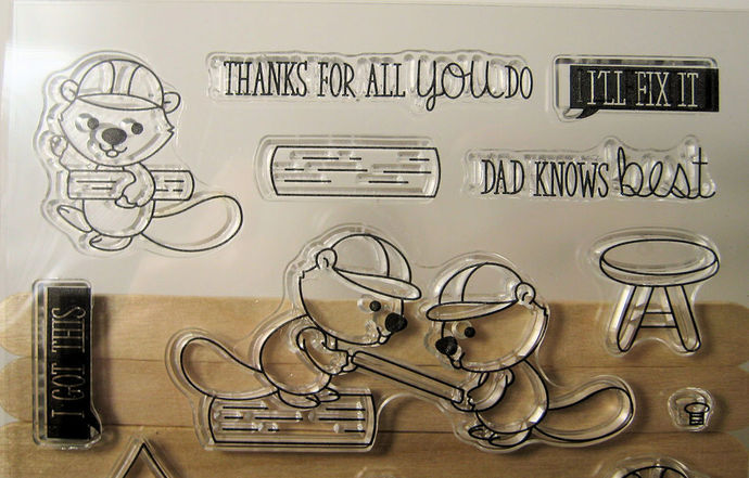 Little Beaver, Contstruction, Happy Fathers Day Clear Stamps