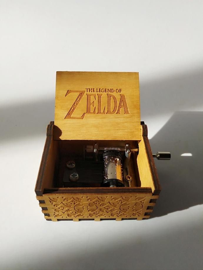 Legend of zelda music box hand crank music box