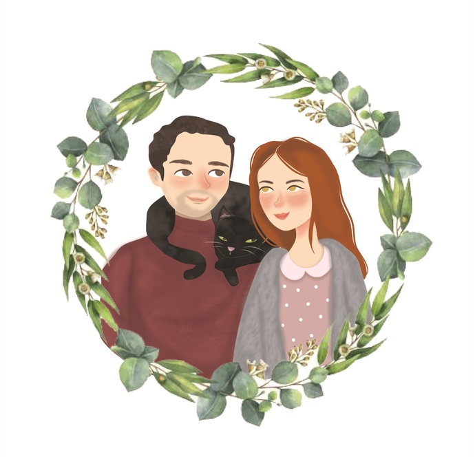 Custom Portrait / Couple Portrait / Custom Portrait Illustration / Custom