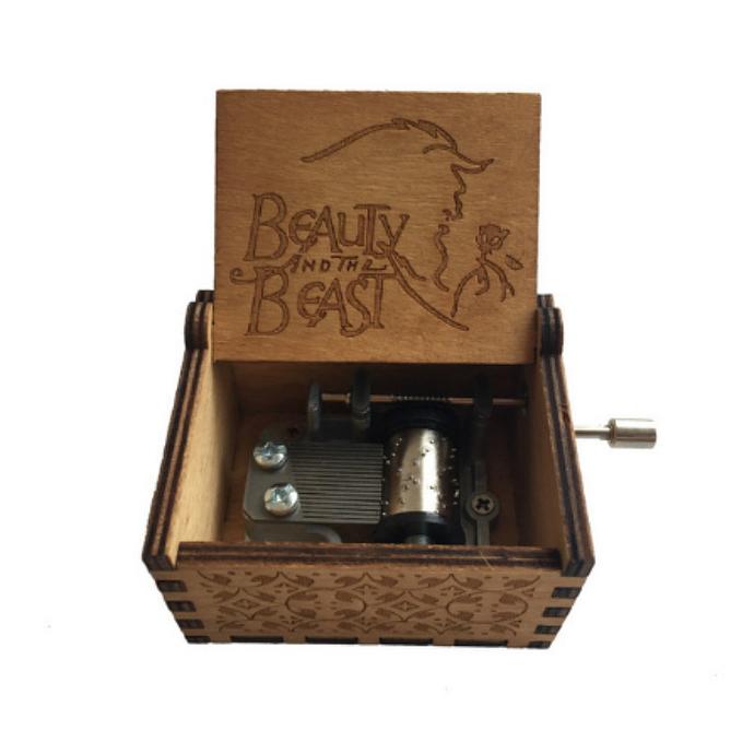 Beauty and beast music box ,handmade music box ,wood music box