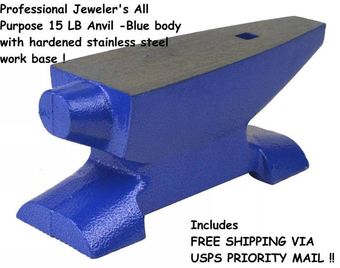 NEW In Box 15 LB Pound Anvil Cast Iron Metal Working Jewelers Bench Tool Forming