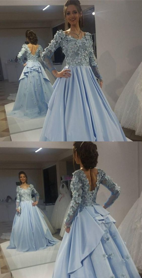 Long Sleeves Formal Evening Gowns Prom Dress,Cheap Prom Dress,Sexy Party