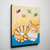 Happy Ginger Kitty and Paper Cranes Original Cat Folk Art Painting