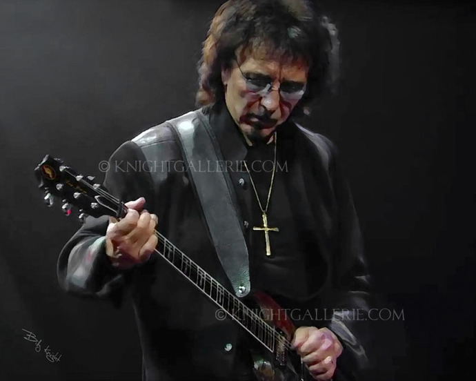 Mixed-Media Concert Portrait: Tony Iommi