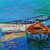 The Sea Original Boat Painting Oil on Canvas Let it take me! Boat Wall Art by