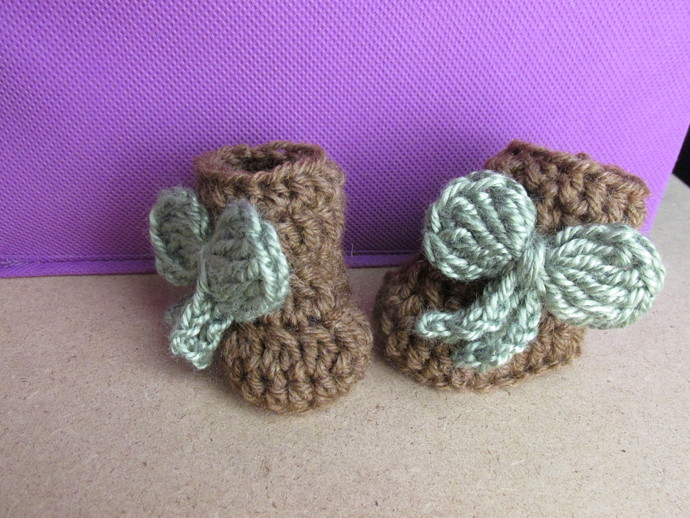 Baby Girl Booties for 0-3 month old