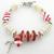 Christmas Pearls Bracelet - artisan lampwork, freshwater pearls, sterling
