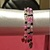 Handmade Light Pink, Dark Pink, Black, & White Glass Seed Beaded 3 Wrap Memory