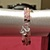 Handmade Pink, Clear, & Black 3 Wrap Glass Seed Beaded Memory Wire Bracelet;