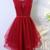 Red Homecoming Dress,Beading Graduation Dress BD2169