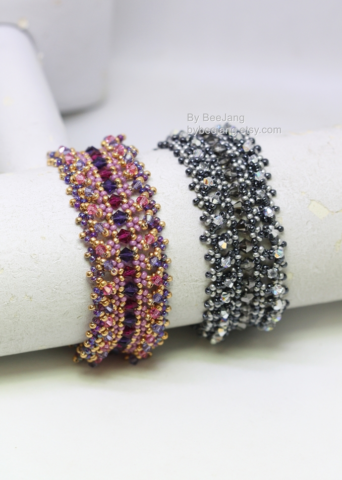 Beading Patterns - Julia Bracelet, Beadweaving Patterns, Digital Download, PDF