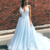 Gorgeous V Neck Long Ball Gown with Floral