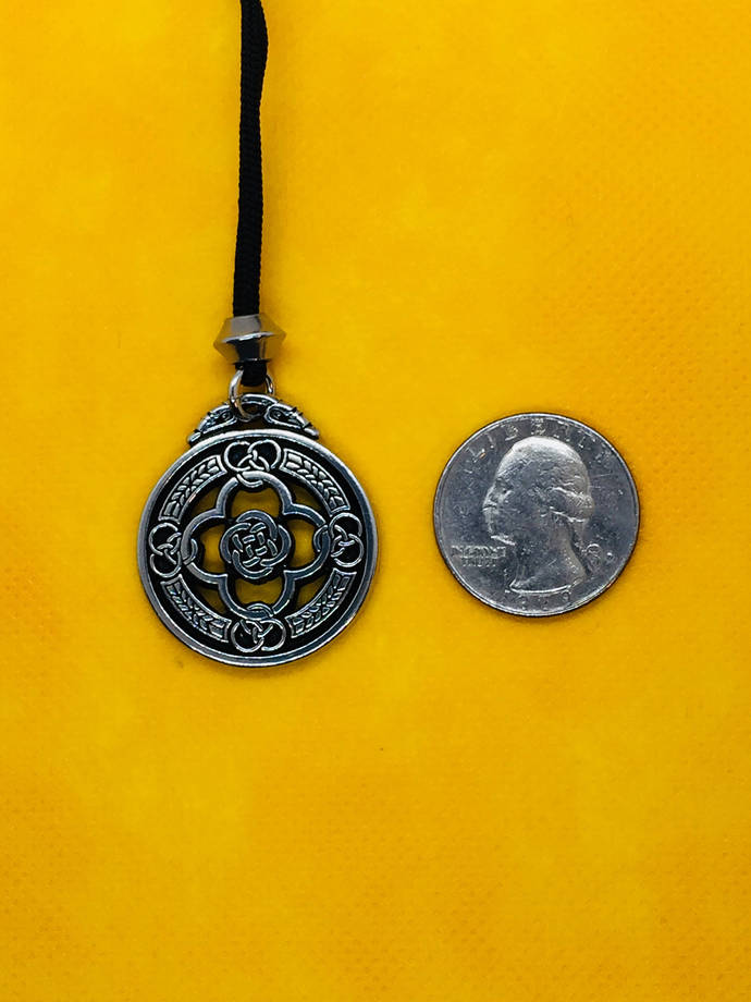 WARRIOR SHIELD PENDANT - Hand Cast in High Quality American Made Pewter