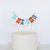 I Am One Birthday Cake Topper in Red, Aqua and Navy Blue