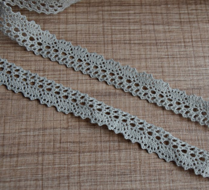 5m Narrow Linen Lace Trim Vintage Style Gray By Queenlace On Zibbet
