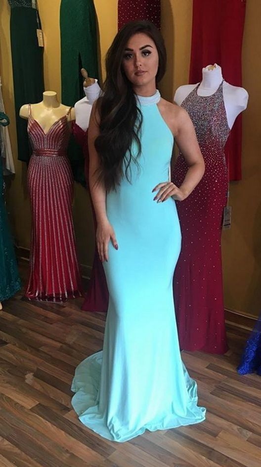 908a67565d0 Sexy Halter Neckline Formal Dress Open Back by ModelDressy on Zibbet