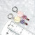 Knitting Stitch Markers, silver color ring with round shell and pastel sparkle