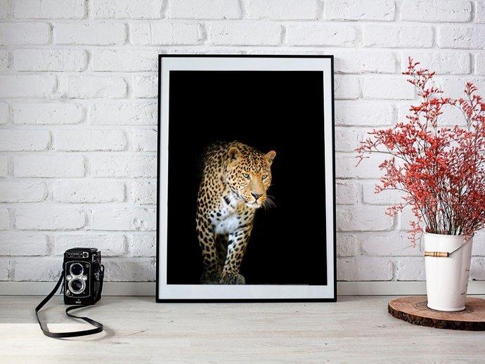 Digital Leopard Print, Digital Printables Wall art prints, Digital Color Forest