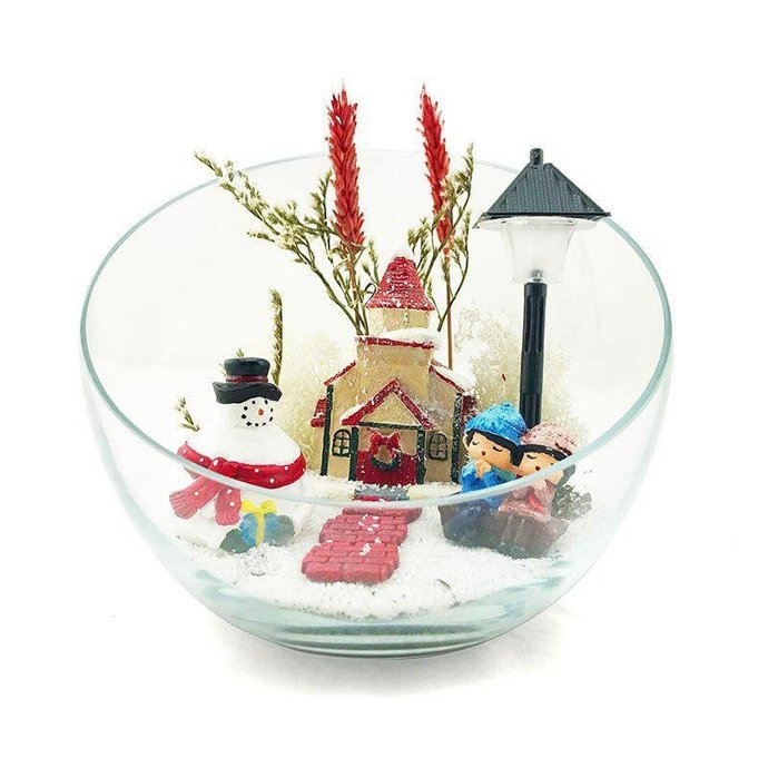 Lovely Christmas Terrarium Kit Christmas Gifts By Yoyomoyo On Zibbet