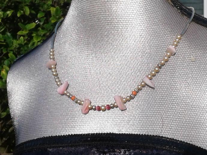 0edf834c79 beaded necklace by Bowen s Beautiful Beading on Zibbet