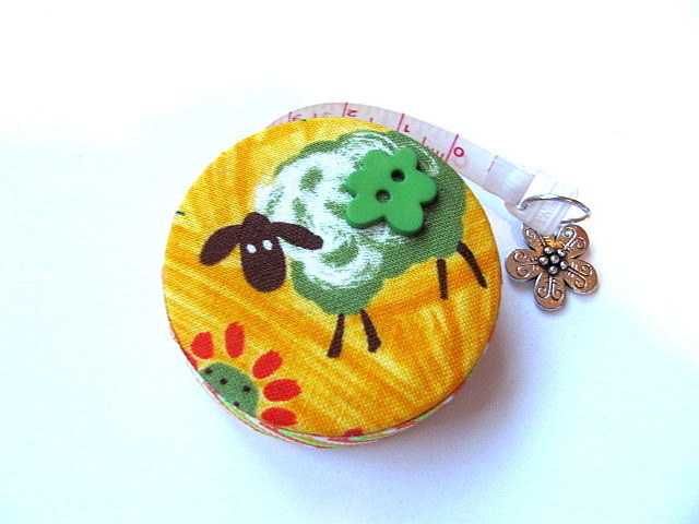 Tape Measure  Sheep on Yellow Retractable Measuring Tape