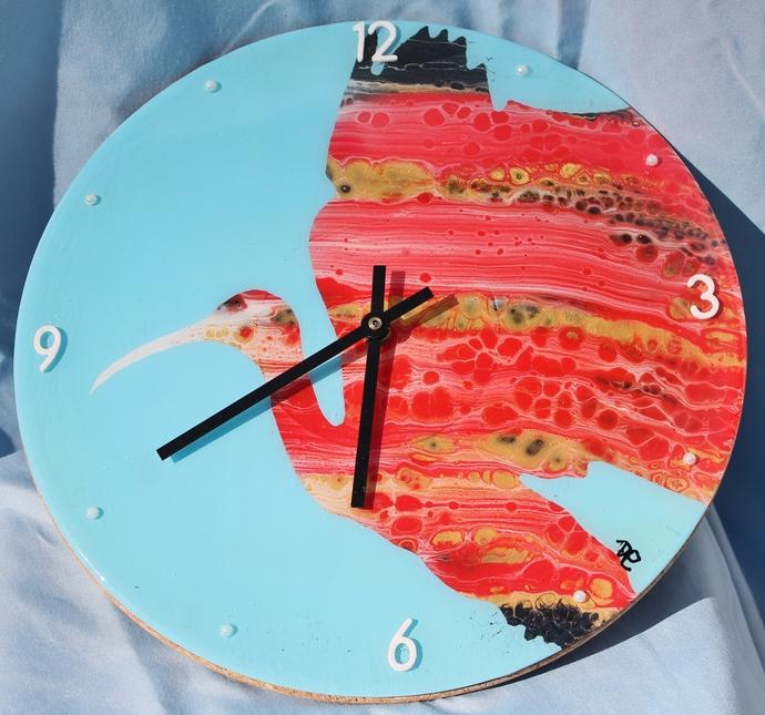 Red Ibis Clock