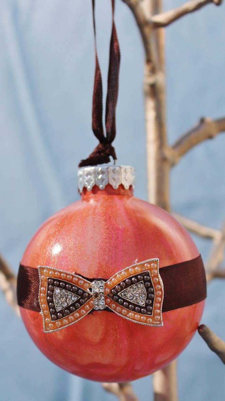 Poured Elegance Christmas Ornaments - set of 6