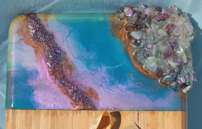 Resin Geode Cheese Board