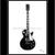 Guitar Art: Ebony Les Paul