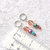Knitting Stitch Markers, silver color ring with pink crystal and faux pearl