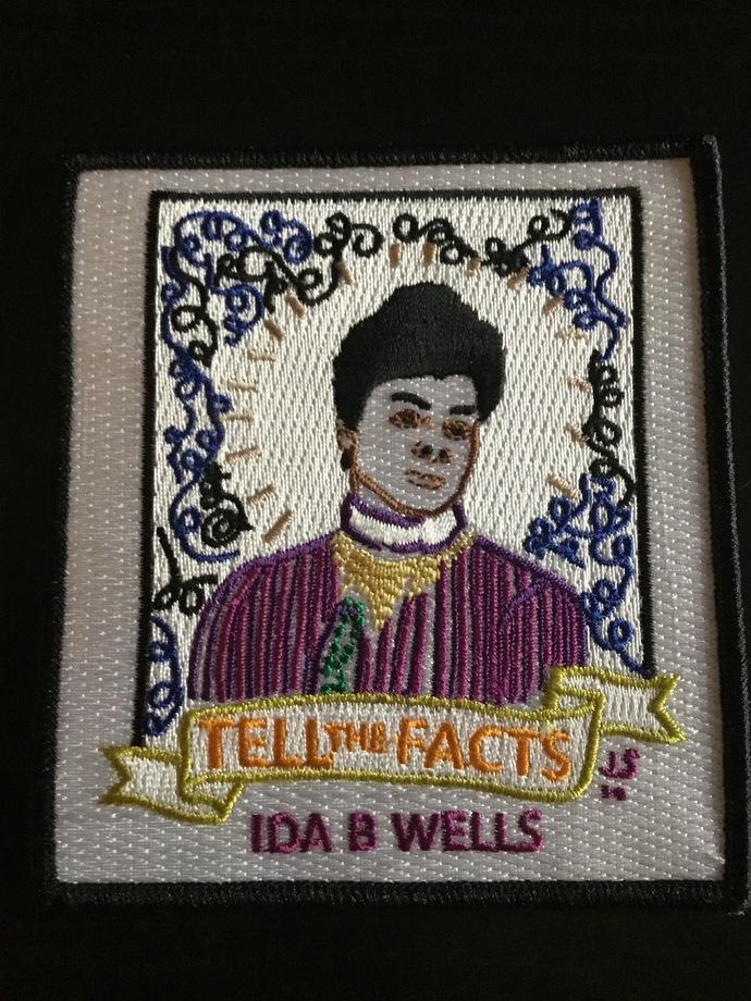 Ida B Wells Embroidered Patch