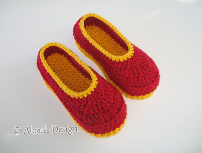 Children's Slippers Crochet Pattern 068 Flower Slippers Pattern Shoes Girl Boy