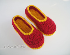 3bfbf8890c4 Children s Slippers Crochet Pattern 068 Flower Slippers Pattern Shoes Girl  Boy Children Toddler Youth Sizes Red Booties Crochet Patterns