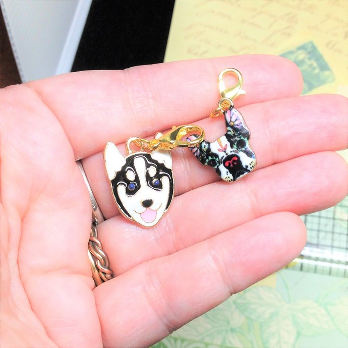 Add-on Charm Zipper Pull Charm Planner Charm With Clip-on Lobster Clasp Enamel